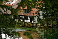 Watermill at the Blautopf in Blaubeuren, Germany Stock Image