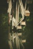 Watermill de madera Imagen de archivo libre de regalías