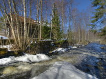 Watermill del abandono Fotografía de archivo
