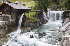 Watermill in Dorferbach, Hinterbichl, Austria Royalty Free Stock Photo
