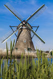 Watermill in the Dutch landscape Royalty Free Stock Photography