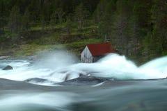 Watermill e cascata Immagine Stock Libera da Diritti