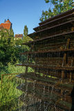 Watermill in einem Dorf Stockfoto