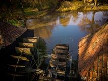 Watermill en Kollen Nuenen próximo, los Países Bajos Fotografía de archivo