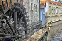 Watermill en Praga Fotos de archivo libres de regalías