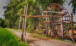 Watermill in farm Stock Image