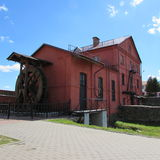 Watermill. Former watermill built in 1902. Now the building is a Museum in the town of Orsha Stock Images
