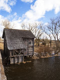 Watermill . Golshany Belarus. Unused old wooden mill located in the village of Golshany Belarus Royalty Free Stock Image