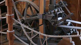 Watermill Indoor, Great Wheel Mechanisam, Osijek Croatia royalty free stock photo