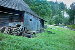 Watermill in Kvacianska valley in Mlyny - Oblazy, Slovakia. Beautiful watermill in Mlyny - Oblazy on the Slovakia. A place often visited by tourists Royalty Free Stock Images