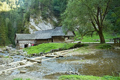 Watermill in Kvacianska valley in Mlyny - Oblazy, Slovakia. Beautiful watermill in Mlyny - Oblazy on the Slovakia. A place often visited by tourists Stock Photography