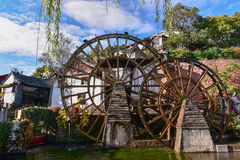 Watermill in Lijiang, Yunnan, China.It is the Lijiang old town s Stock Photos