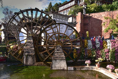 Watermill in Lijiang, Yunnan, China.It is the Lijiang old town s Stock Images