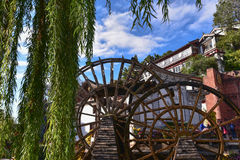 Watermill in Lijiang, Yunnan, China.It is the Lijiang old town s Royalty Free Stock Image