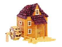 Watermill made from food Royalty Free Stock Image
