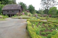 Watermill och hus på det tyska museet på Frutillar, Chile Royaltyfri Bild