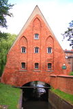 Watermill on the Old Town Gdansk Poland Stock Images