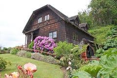 Watermill på det tyska museet på Frutillar, Chile Royaltyfri Foto