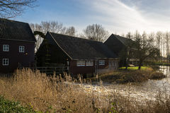 Watermill pintou por Vincent van Gogh em Nuenen Imagens de Stock