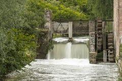 Watermill in platteland Royalty-vrije Stock Foto's