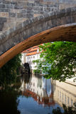 Watermill Prague, Charles Bridge Royaltyfri Bild