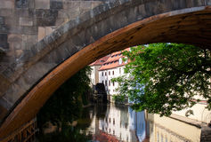 Watermill, Prague, Charles Bridge Stock Images