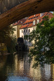 Watermill, Prague, Charles Bridge Royalty Free Stock Images