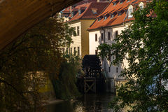 Watermill in Prague, Charles Bridge Royalty Free Stock Photo