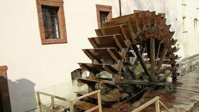 Watermill in Prague stock video