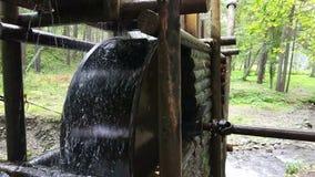 Watermill rústico com roda video estoque
