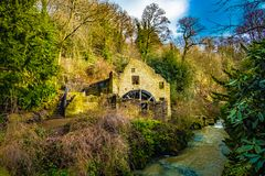 Watermill Ruins in a forest royalty free stock image