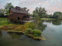 Watermill on Small Danube near the village Jelka, Slovakia Royalty Free Stock Photo
