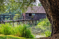 Watermill. On Small Danube near the village Tomasikovo, Slovakia, Europe Stock Photo