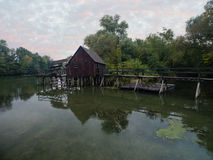 Watermill on Small Danube near the village Tomasikovo, Slovakia Stock Photos