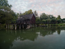 Watermill on Small Danube near the village Tomasikovo, Slovakia Royalty Free Stock Photo