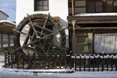 Watermill in Takayama, Japan royalty free stock photos