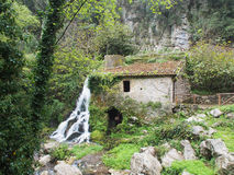 watermill valle del bussento, cilento, Italien, Europa Royaltyfri Bild