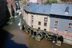 Watermill in vecchia città romantica Saarburg - Germania Immagine Stock Libera da Diritti