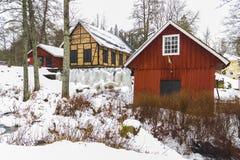 Watermill w Marieholm, Szwecja Obraz Stock