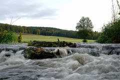 Watermills σε ένα πριονιστήριο στη Βαυαρία στοκ εικόνα με δικαίωμα ελεύθερης χρήσης