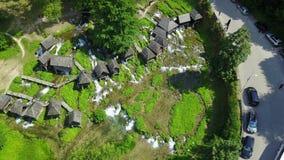 Watermills auf dem Fluss Pliva lizenzfreie stockfotos