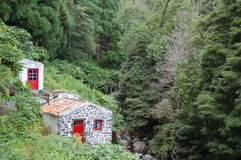 Watermills in azores. Island, portugal Stock Images