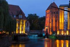Watermills históricos em Lueneburg Imagens de Stock