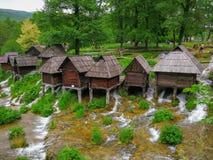 Watermills of Jajce Bosnia-Herzegovina royalty free stock photo