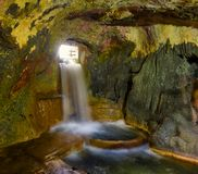 Watermills på Krka, Kroatien Fotografering för Bildbyråer
