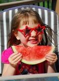 Watermlon girl Stock Photo