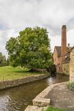 Watermolen bij Lagere Slachting, Gloucestershire stock foto