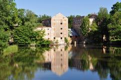 Watermolen, Breclav, Tsjechische republiek royalty-vrije stock foto