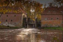 Watermolen Denekamp por el castillo Singraven Fotografía de archivo libre de regalías