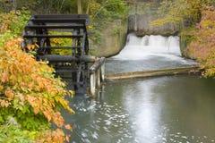 Watermolen, Duitsland, de herfst Royalty-vrije Stock Afbeeldingen